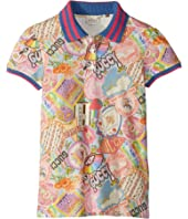 Gucci Kids - Stickers Print Pique Polo (Little Kids/Big Kids)