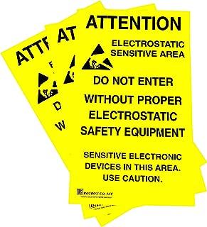 Botron B6717 ESD Zone Adhesive Sign 17'' x 11''
