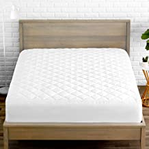 Bare Home Quilted Fitted Mattress Pad - Cooling Mattress Topper - Hypoallergenic Down Alternative Fiberfill - Stretch-to-Fit (Full XL)