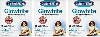 Dr Beckmann Glowhite - Blanqueador de tela con quitamanchas (3 bolsitas de 40 g) 3 packs
