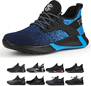 TQGOLD Safety Shoes for Men Women Composite Steel Toe Sneaker Industrial Construction Work Shoes Lightweight Breathable