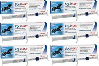 (6 Pack) Bimeda Equimax Horse Wormer Ivermectin 1.87 Percent and Praziquantel 14.03 Percent Paste Tube