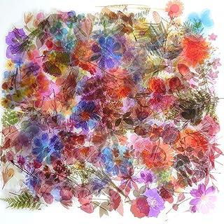 Autocollants Fleurs Plantes Rétro 320 PCS,Autocollants Décoratifs Transparent Scrapbooking,Autocollants Scrapbooking Natur...