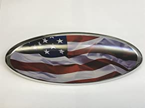 Exotic Store American Flag F-9FGA Modified Emblem For FORD Ranger EXPLORER EDGE F-150 F-250 F350 Rear OVAL EMBLEM FRONT GRILLE Tailgate Rear 9 Inch Badge