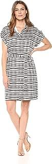 Amazon Brand - Lark & Ro Women's Short Sleeve Hidden Placket Shirt Dress