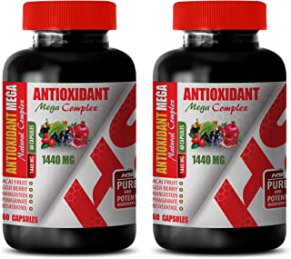 Focus Formula Support Brain Health - ANTIOXIDANT Natural MEGA Complex 1440 MG - Pomegranate Extract - 2 Bottles 120 Capsules