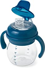 OXO Tot Transitions Soft Spout Sippy Cup with Removable Handles, Navy, 6 Ounce