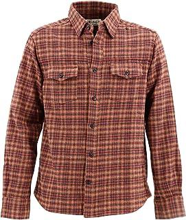 [SWEEP!! LosAngeles スウィープ ロサンゼルス]メンズ チェック柄 コットン ツイードシャツ SWFSTW-17 RED(レッド)