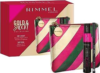Rimmel London, Geschenkdoos voor dames Gold & Shock Collection Day 2 Night Kit, metallic clutch met dubbele applicator en ...