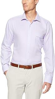 Van Heusen Men's Classic Relaxed Fit Shirt Herringbone Lilac