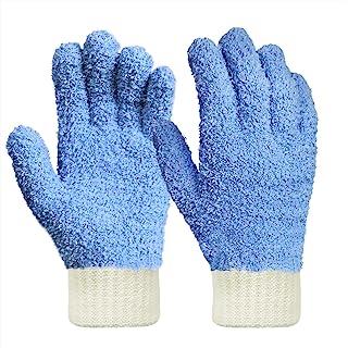 Mikrofaser Staubhandschuhe; reinigt schwer zugängliche Stellen; Reinigung von Jalousien; sehr bruchsicher, fusselfrei, Blau, 1 Stück