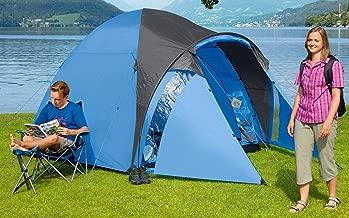 Berger Kuppelzelt Hobby 3 Personenzelt Festivalzelt Campingzelt blau//grau 3000 mm WS