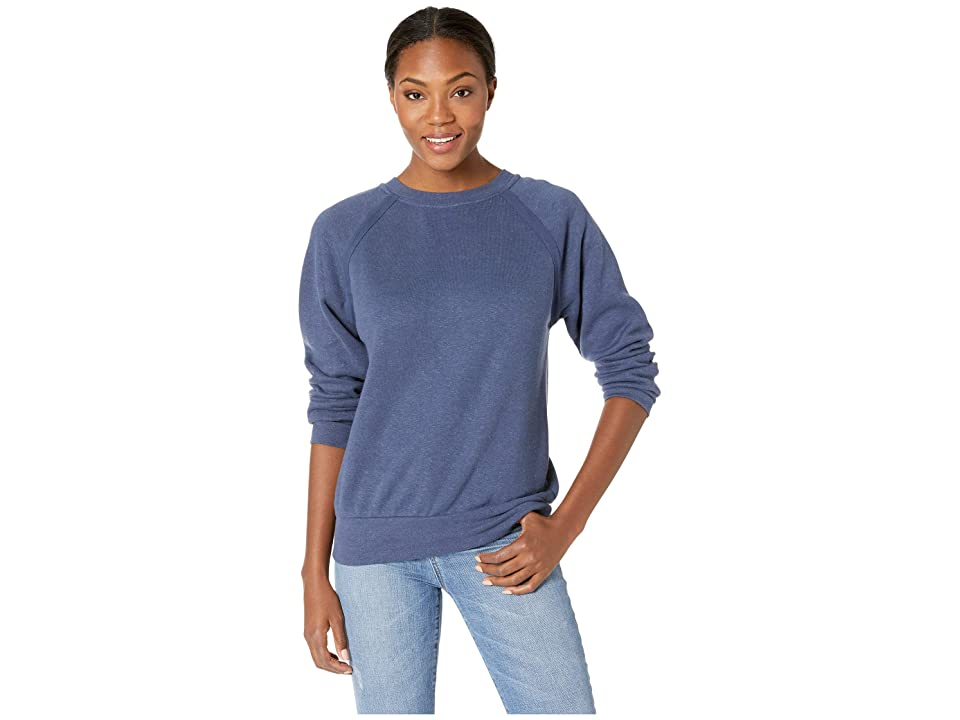 Prana Cozy Up Sweatshirt (Equinox Blue Heather) Women