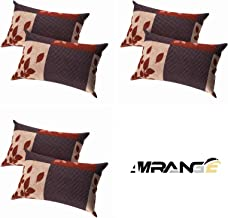 Amrange Cotton 6 Piece Set Designer Pillow Covers,Size-17'' x 27''