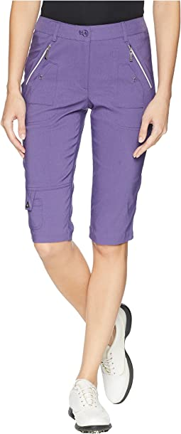 Fly Front Knee Capris