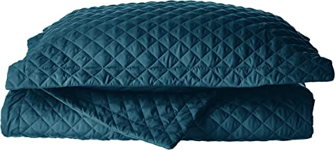 Tribeca Living BRISQUILTKITE Brisbane Oversized Quilt Set, King, Teal