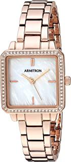 Armitron Women's 75/5589MPRG Swarovski Crystal Accented Rose Gold-Tone Bracelet Watch