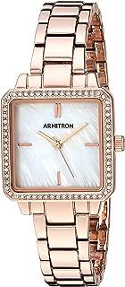 Armitron Women's 75/5589MPRG Swarovski Crystal Accented Rose Gold-Tone Bracelet Watch