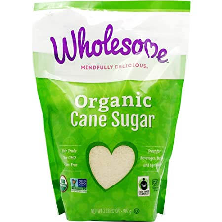 Wholesome Sweeteners Organic Milled Sugar, Unrefined, 2 lb