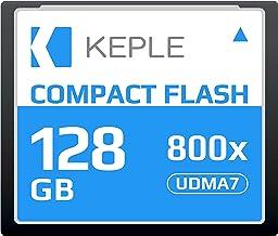 CF 128 GB Tarjeta de Memoria Compact Flash 800x Velocidad 120 MB/s, R 135 MBs W 80 MBs UDMA 7 Compatible con Nikon D5, D4, D800, D810, D700, D300; Canon 5d, Mark II, III, IV; 7d, Mark II