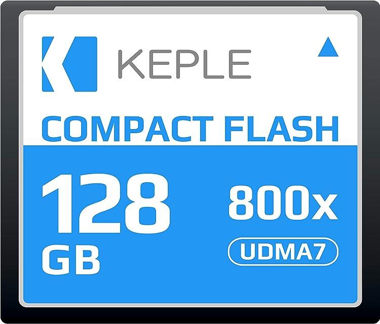CF 128 GB Tarjeta de Memoria Compact Flash 800x Velocidad 120 MB/s R 135 MBs W 80 MBs UDMA 7 Compatible con Nikon D5 D4 D800 D810 D700 D300; Canon 5d Mark II III IV; 7d Mark II
