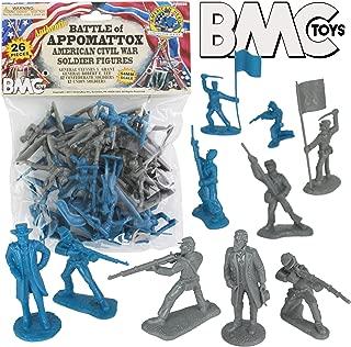 BMC Civil War Plastic Army Men - 26pc Battle of Appomattox Soldier Figures