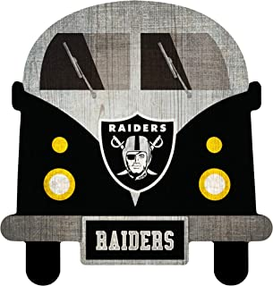 Fan Creations NFL Las Vegas Raiders Unisex Oakland Raiders Team Bus Sign, Team Color, 12 inch