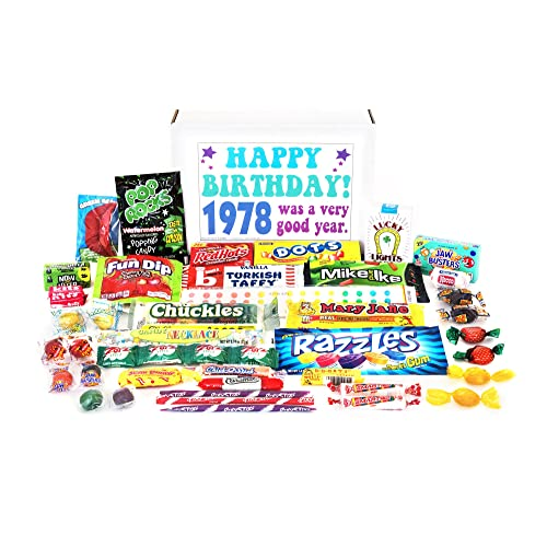Woodstock Candy 1978 41st Birthday Gift Box Nostalgic Retro Assortment From Childhood For 41