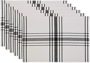 DII Home Sweet Farmhouse Kitchen Textiles, 13x19, Black 6 Piece