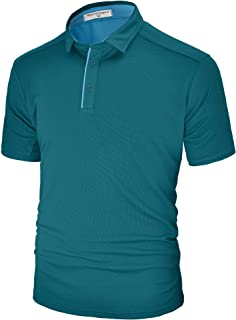 Derminpro Men's Polo Shirts Short/Long Sleeve Quick Dry Athletic Golf T-Shirts