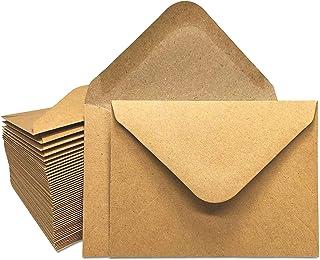 Gift Card Envelopes - 100-Count Mini Envelopes, Kraft Paper Business Card Envelopes, Bulk Tiny Envelope Pockets for Small ...