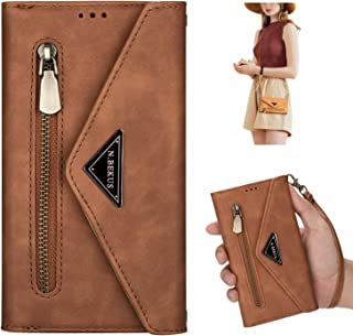 JAWSEU Telefonfodral kompatibelt med Huawei Mate 20 Pro, PU-läder plånbok magnetisk stängning skyddskåpa med korthållare j...
