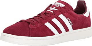 adidas Originals Men's Campus Sneaker, Collegiate Burgundy Chalk White, 6.5 M US