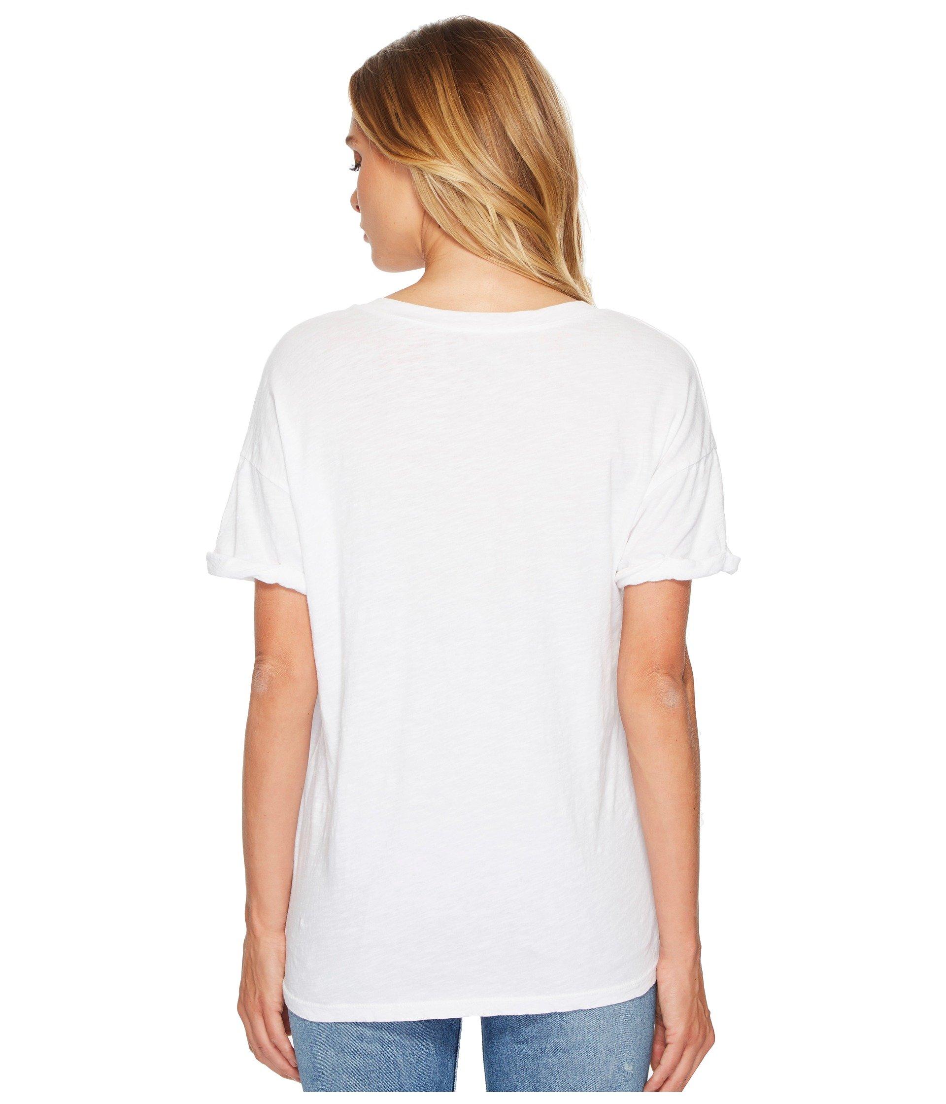 Others White Sleeve T Well W Brand shirt neck Retro Short The Drinks Original V wOYa66q