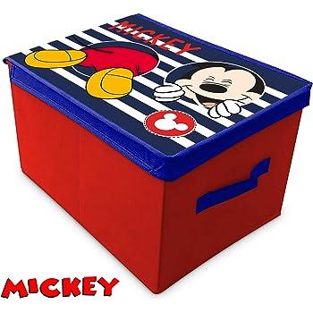 SUNCITY Mickey Caja Guarda Juguetes Plegable, Multicolor, 40 X 30 X 25 Cm: Amazon.es: Hogar