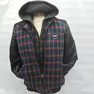 Jacket, Men's sport cotton and leather