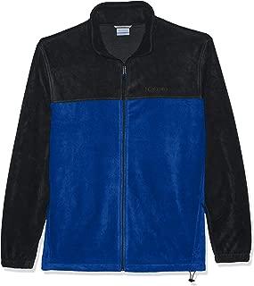 Columbia Men's Steens Mountain Full Zip 2.0 Soft Fleece Jacket, Azul, Charcoal Heather, 1X