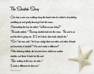 Desiderata Gallery Brand. The Starfish Story. You Can Make A Difference. Motivational Poster 11x14