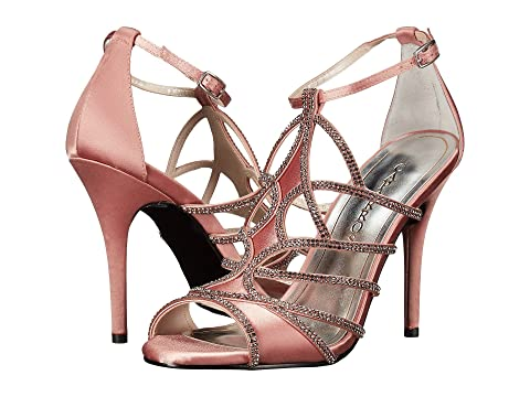 Caparros Impressive High Heels Light Clay Satin