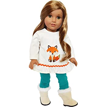 Blouse,Hat,Boots Fit  American Girl 18 in Doll  Clothes Snowman Jumper Dolls