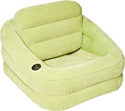 Intex Inflatable Indoor or Outdoor Accent Chair with Cup Holder, Green-68586