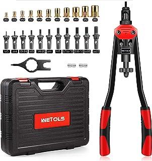 "WETOLS 16"" Rivet Nut Tool, Professional Rivet Nut Tool Kit with 11 Metric & Inch Mandrels M3 M4..."