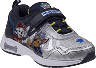 Paw Patrol Boys' Sneakers with Chase & Marshall, Velcro Straps - Red & Navy Blue