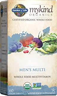 Garden of Life mykind Organics Whole Food Multivitamin for Men, 60 Tablets, Vegan Mens Vitamins and Minerals for Mens Heal...