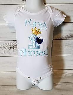 f2eab5ed 1st 2nd Birthday baby boy birthday Smash cake photo prop prince king royal  COOKIE MONSTER Blue