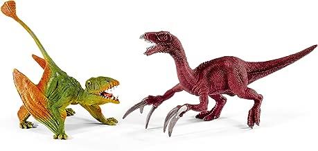 Schleich FBA_41425 North America Dimorphodon & Therizinosaurus Toy Figure, Small