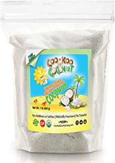 Organic Shredded Coconut Unsweetened, 1 lb, Fine with E-book, Great for Coconut Milk, Keto and Paleo Treats