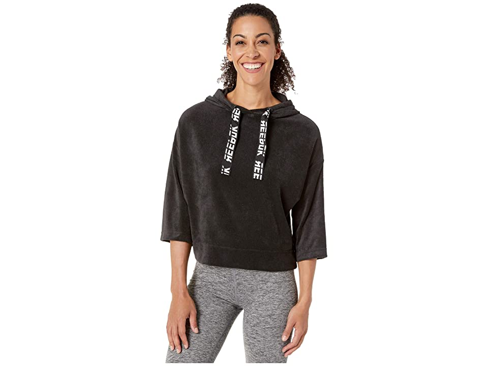 Reebok Work Out Ready Meet You There Terry Hoodie (Black) Women