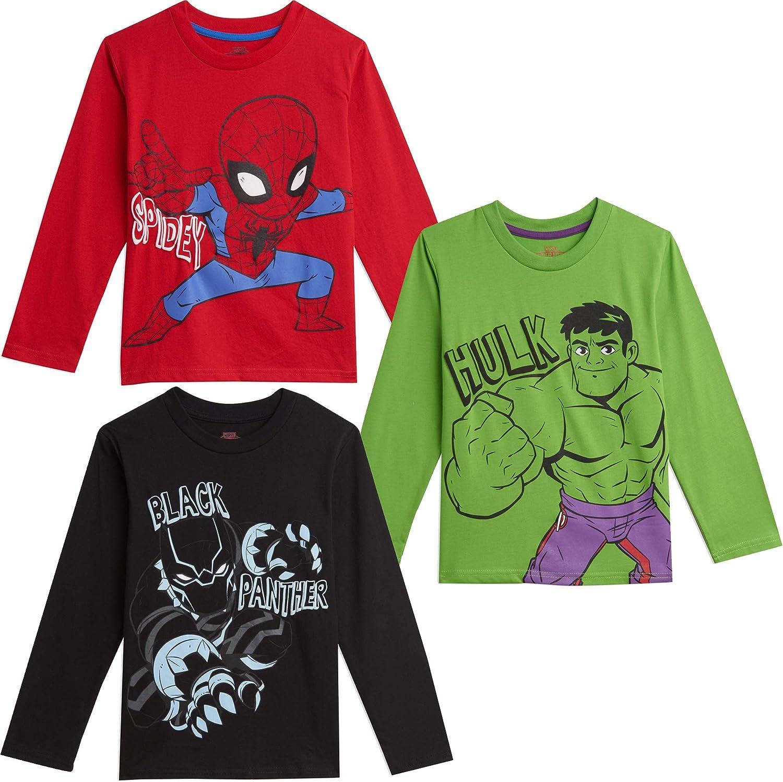 Marvel Avengers 3 Pack Long Sleeve Graphic T-Shirt Green