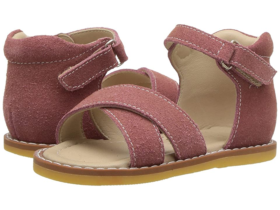 Elephantito Amy Crossed Sandal (Toddler) (Dusty Pink) Girls Shoes